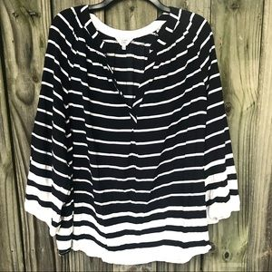 [Crown & Ivy] Rayon Striped Tunic Size 2X